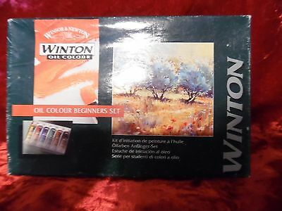 WINSOR & NEWTON  WINTON OIL COLOUR BEGINNERS SET 6 TUBES 37 ml