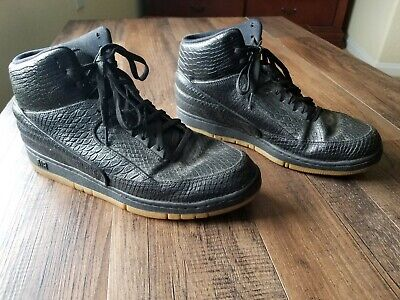 newest collection 5dd64 3f2a4 Nike Air Python Premium Mens Black Sneakers Gum Sole 705066 001 US Size 12   150