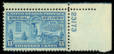 US Scott #E17 Motorcycle 13¢  Blue Special Delivery UR Plate#  MNH **FREE SHIP**