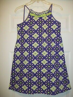 56749e4dd46 Hanna Andersson Girl s Size 150 (Usa 12) Sleeveless Purple Green Navy White  Red