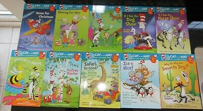 Set of 10 Dr Seuss The Cat In The Hat I'm Ready For Reading Books Early Readers
