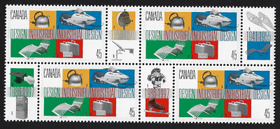 Canada Stamps - Block of 4 - Industrial Design #1654 - MNH