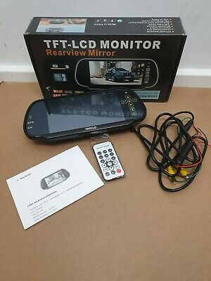 TFT 7 Inch LCD Rearview Mirror Monitor Display Video Bluetooth & Remote Control