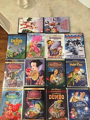 Disney DVD Lot w/ Snow White, Little Mermaid, and more!