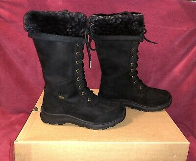 63ad27e7aa8 UGG ADIRONDACK TALL III Leopard BLACK Waterproof Leather Snow Boots Size 7  Women