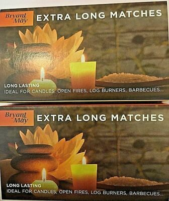 2x Boxes Bryant May Safety Matches Extra Long