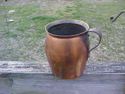early 1800's Hand Hammered solid copper Pitcher-gallon size