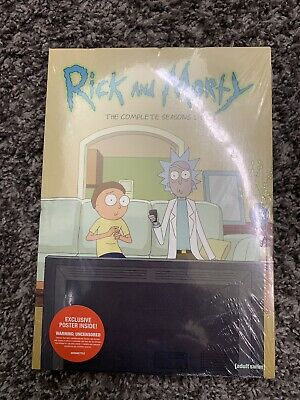 New Rick & Morty: Complete Seasons 1-3 DVD 2019 + Exclusive Poster Inside!