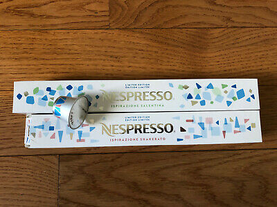 NESPRESSO 18 pods ISPIRAZIONE SHAKERATO & SALENTINA ICE COFFEE  LIMITED EDITION