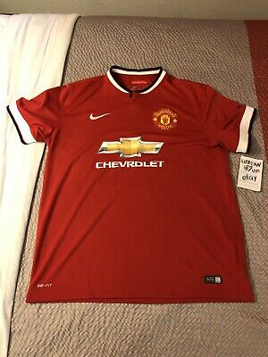 newest 62890 21359 SIZE XL NIKE Manchester United Jersey Men's Soccer Kit 2014 2015 Home Red  ManU