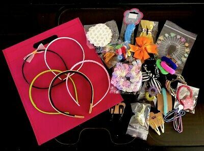 Mixture Joblot 25 x Girls Hair Accessories + free bag   IDEAL PARTY BAG FILLERS