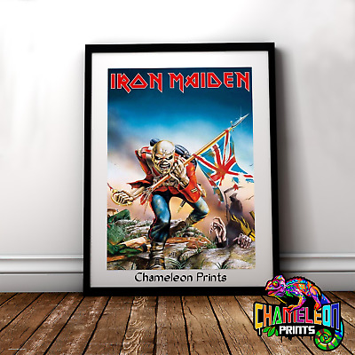 Iron Maiden Skull Poster A4/A3 Iron Maiden Poster Flag Poster
