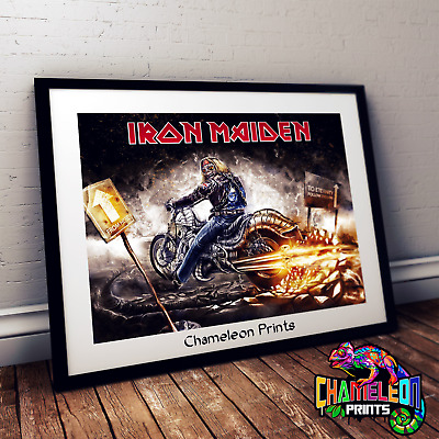 Iron Maiden Motorcycle Poster A4/A3 Iron Maiden Poster