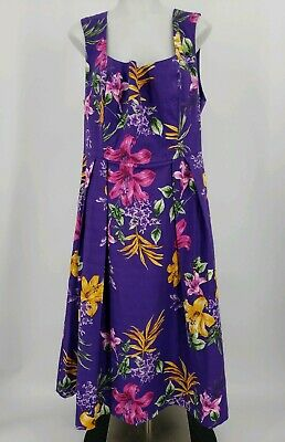 14ce25828c NWT Womens Eva Mendes New York and Company Purple Floral Dress Size 14  Easter