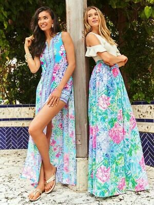 74c5f30dd59c54 NWT Lilly Pulitzer Special Delivery Donna Maxi Romper Size 8 Retail $248
