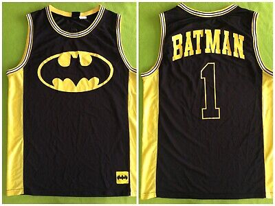 87cc595552c DC COMICS BATMAN Sleeveless Basketball Tanktop Jersey Mens Size 2XL ...
