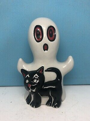 RARE Lorna Bailey Figurine Ghost With Cat Signed By Lorna Bailey