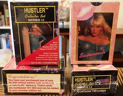 1993 HUSTLER SERIES 2 lot of two COMPLETE CARD SETS 2 EA FACTORY BOX SET 101-200