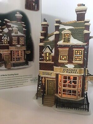 Department 56 Dickens Village Scrooge & Marley Counting House 56.58483