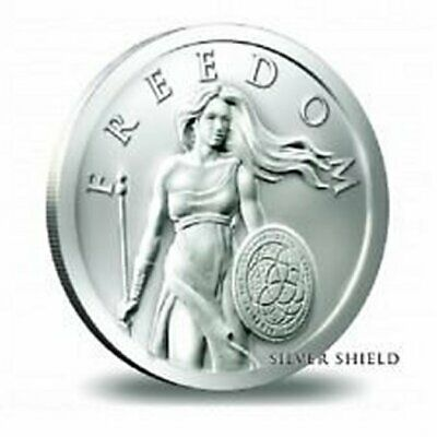 2014 1 oz 999 silver shield Standing Freedom Girl - Silver round in Capsule