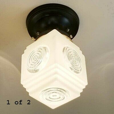 625b Vintage art deco 6 tiered Ceiling Light Lamp Fixture