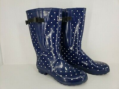 603107355782 Womens Jileon Extra Wide Calf All Weather Durable Rubber Rain Boots 42 US 11