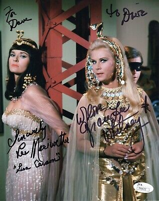 LEE MERIWETHER+GRACE LEE WHITNEY AUTOGRAPHED 8x10 COLOR PHOTO    TO DAVE     JSA