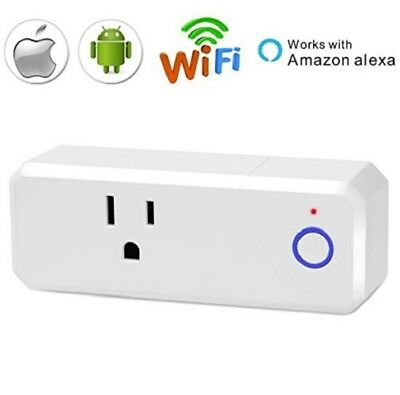 Smart Plug Mini Wifi Outlet Timer Energy Monitoring Function No Hub Required
