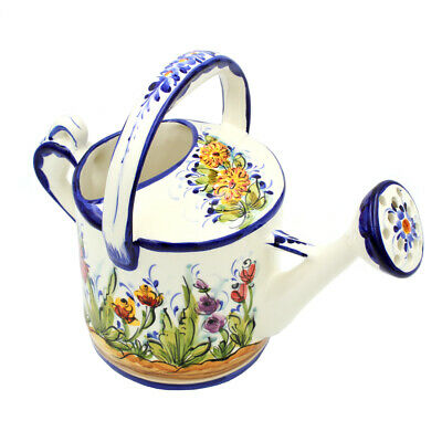 Hand-painted Decorative Traditional Portuguese Ceramic Watering Can #541