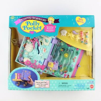 POLLY POCKET Vintage Bluebird 1995 Sparkling Mermaid *NEW & SEALED*