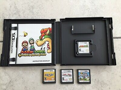 Nintendo DS 4 Games Mario Kart Dis Super Mario Bros Mario Party DSL Mario Luigi