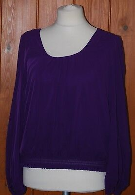 **W, Ladies, Purple, Light, Casual, Party, Top, Tunic,  size 14-16