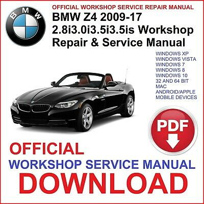 # OFFICIAL WORKSHOP MANUAL service repair FOR BMW Z4 E89 2009 2010 2011