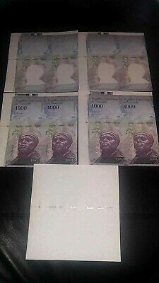 "***Set of 5 ""Sequential"" and ""Twins"" Venezuela Specimen-banknotes (Phases). (OM)"