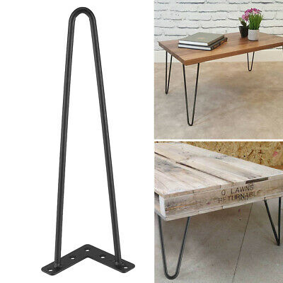 """4PCS 8/"""" 12/"""" 16/"""" 28/"""" Hairpin Coffee Table Legs Solid Steel DIY 2 Rods Table Leg"""
