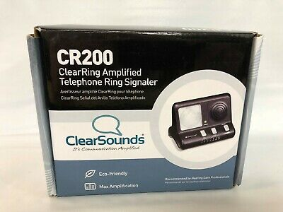 ClearSounds CR200 ClearRing Amplified Telephone Ring Strobe Signaler NEW