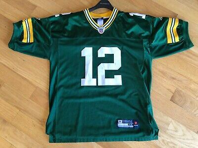 official photos 07bb9 4f30d AARON RODGERS MEN'S 52 Reebok NFL Equipment Authentic Green ...