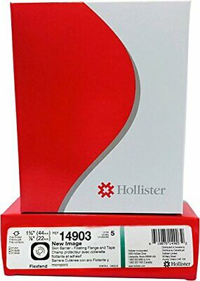 "Hollister New Image Pre-Cut Skin Barrier 1 3/4"" Flange 7/8"" Stoma 5/bx 14903"