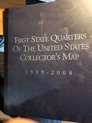 1999-2008 First State Quarters of the US Collector's Map - with 29 coins