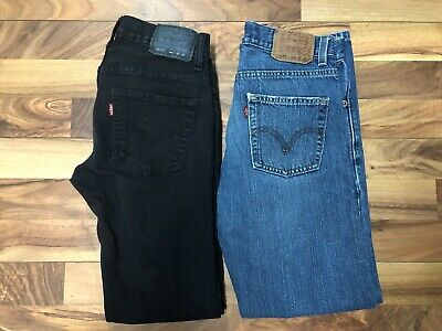 eb6a6bacaa4 LOT OF 2 Pair of Levi's Jeans Boys 14 Reg Slim Straight Fit 27 X 27 ...