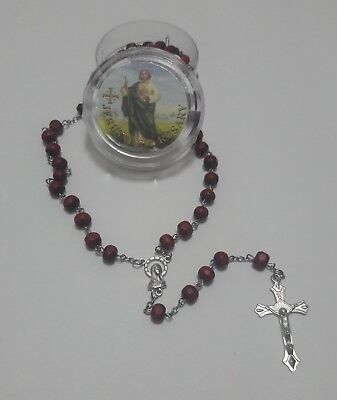 St Saint Jude Rosary Cross Beads Jesus Crucifix Church