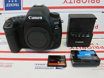 Canon EOS 5D Mark IV 30.4MP Digital SLR Camera Body Only 35% Shutter Clicks