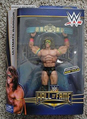 The Ultimate Warrior Mattel Elite Legend Wwe Rare Wwf Hal Of Fame With Blue Belt