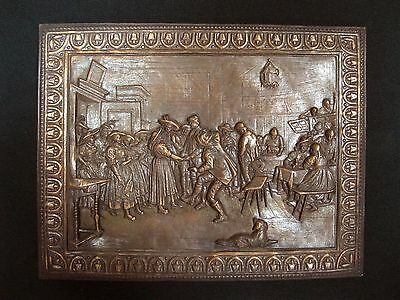 Vintage COPPER galvanic panel ART DECO Early ERA XX Century Russia