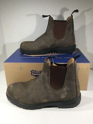 BLUNDSTONE Mens 584 Rustic Brown Leather Pull On Ankle Boots Shoes Sz 7 YA-944
