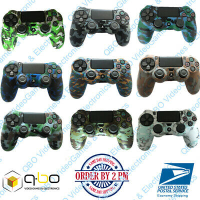 Silicone Rubber Skin Cover Camouflage Gel Case for PlayStation 4 PS4 Controller