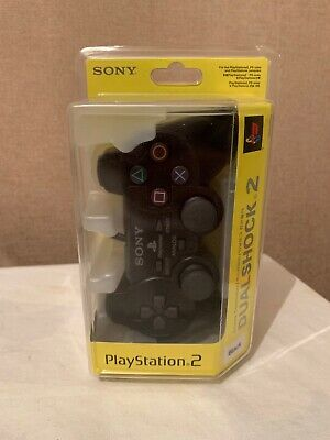 Sony Playstation 2 Dualshock 2 Genuine Authentic Black Controller - Boxed New