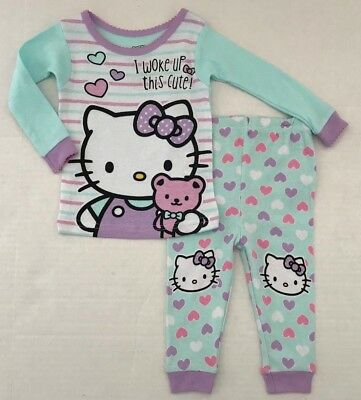 Girls' Clothing (newborn-5t) The Cheapest Price Nwt Hello Kitty Infant Toddler Size 24 Mos Pjs Pajamas New