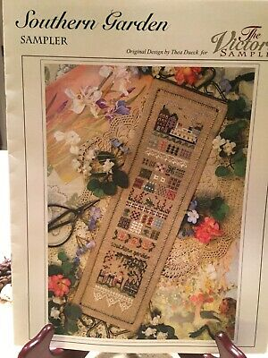 """Victoria Sampler """"Southern Garden"""" Cross Stitch Pattern, with Accessory Pack"""