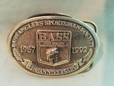 Bass Anglers Sportsman Society 25Th Anniversary 1967 1992 Worn Belt Buckle